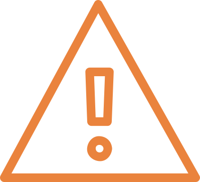 life insurance warning - orange warning sign